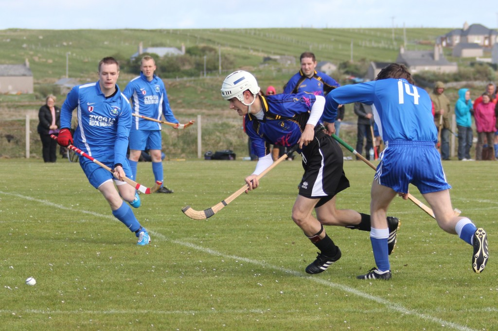 Action from Lochbroom V Lewis at Shawbost