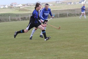 Scott Murray in full flight v Lochcarron