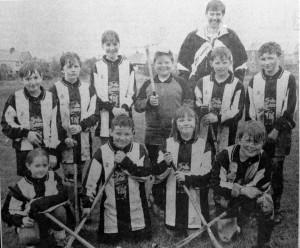 Dr Barden with Tong Shinty Club