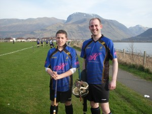 Connor Chalmers and Eoghan Stewart at Kilmallie