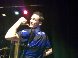 Gary Innes signs for Camanachd Leodhais in the Festival Club